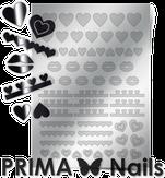Prima Nails Металлизированные наклейки LV-01, Серебро