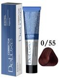 Estel Professional De Luxe Крем-краска корректор для окрашивания волос красный 0/55, 60 мл.