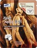 3W Clinic Fresh Red Ginseng Mask Sheeet Тканевая маска с экстратом корня красного женьшеня