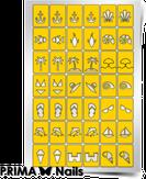 """Prima Nails Трафарет для дизайна ногтей, """"Пляж"""""""