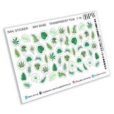 BPW Style Наклейки для ногтей Тропические листья