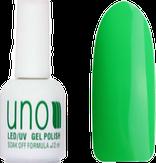 UNO Гель-лак 054 Зеленый неоновый - Green Neon, 12 мл.