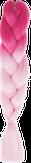 HIVISION Канекалон для афрокосичек малиновый/розовый # 35