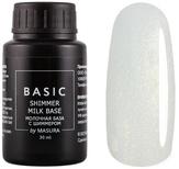 Masura Каучуковая база Basic с шиммером молочная  30 мл
