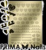 Prima Nails Металлизированные наклейки LV-01, Золото