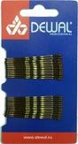 Dewal Невидимки коричневые, волна 50 мм., 24 шт/уп., на блистере SLN50V-3/24