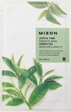 Mizon Joyful Time Essence Mask Green Tea Тканевая маска для лица с экстрактом зелёного чая 25 мл