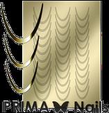 Prima Nails Металлизированные наклейки CL-001, Золото