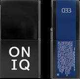 ONIQ Гель-лак для ногтей PANTONE 033, цвет Dazzling blue OGP-033