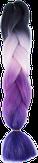 HIVISION Канекалон для афрокосичек черный/розовый/темно-сиреневый # 58