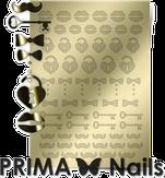 Prima Nails Металлизированные наклейки FSH-04, Золото