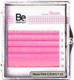 Be Perfect Цветные ресницы  Neon Pink MIX 6 линий (D/0.10/7-12)