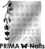 Prima Nails Металлизированные наклейки FL-02, Серебро