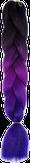 HIVISION Канекалон для афрокосичек черный/фолетовый/темно-синий # 49