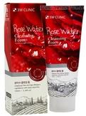 3W Clinic Увлажняющая пенка с розовой водой Rose Water Cleansing Foam 100 мл.