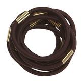 Dewal Резинки для волос, коричневые maxi 10 шт./уп. RE022