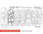 Lucky Rose Слайдер-раскраска Stencil Coloring-7