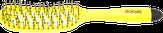 "Dewal Щетка массажная ""Banana"" прямоугольная продувная, узкая,  пластиковый штифт, 8 рядов BNN87"