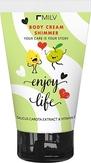 MILV Увлажняющий крем для тела с шиммером «Enjoy life» 150 мл.