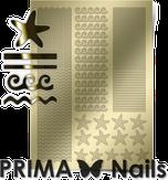 Prima Nails Металлизированные наклейки SEA-003, Золото