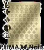 Prima Nails Металлизированные наклейки FSH-02, Золото
