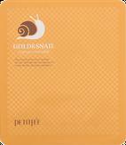 Petitfee Gold & Snail Hydrogel Mask Pack Гидрогелевая маска с золотом и улиточным муцином