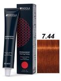 Indola Red&Fashion 7.44 Крем-краска Средний русый интенсивный медный 60мл
