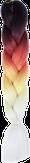 HIVISION Канекалон для афрокосичек черн/красн/желт/бел # 57