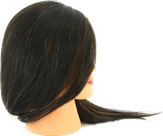Dewal Голова учебная натуральные волосы, цвет брюнетка 30-40 см. M-2023M-401