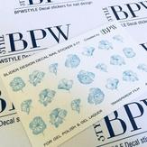BPW Style Слайдер дизайн градиент Цветы бирюза