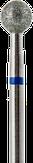 Владмива Фреза алмазная шар, D5,0 мм. синяя, средняя зернистость 806.001.524.050