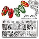 Born Pretty Пластина для стемпинга 12*6 см BPX-L013