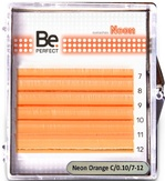 Be Perfect Цветные ресницы Neon Orange MIX 6 линий (C/0.10/7-12)