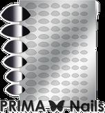 Prima Nails Металлизированные наклейки CL-010, Серебро