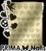 Prima Nails Металлизированные наклейки LV-02, Золото