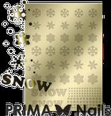 Prima Nails Металлизированные наклейки W-01, Золото