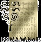 Prima Nails Металлизированные наклейки OR-006, Золото