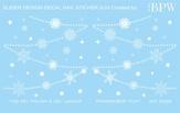 BPW Style Слайдер-дизайн Белые снежинки, sd3-24