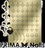 Prima Nails Металлизированные наклейки PR-003, Золото