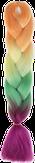 HIVISION Канекалон для афрокосичек оранж/желт/зел/роз # 59