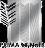 Prima Nails Металлизированные наклейки GM-07, Серебро