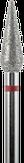 Владмива Фреза алмазная конус, D4,0 мм, красная, мелкая зернистость 806.266.514.040