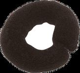 Dewal Валик для прически, сетка с кнопкой, черный 25 см.