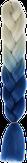 HIVISION Канекалон для афрокосичек бежевый/синий # 34