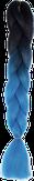 HIVISION Канекалон для афрокосичек черный/синий # 16