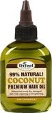 Difeel Natural Coconut Premium Hair Oil Масло премиальное для волос с кокосом 99 % 75 мл