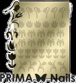 Prima Nails Металлизированные наклейки FL-02, Золото