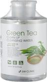 3W Clinic Green Tea Clean-Up Cleansing Water Очищающая вода с экстрактом зеленого чая 500 мл.