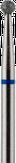 Modelon Фреза алмазная шаровидная, D2,5 мм. синяя, средняя зернистость 806.001.524.025