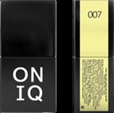 ONIQ Гель-лак для ногтей PANTONE 007, цвет Elfin yellow OGP-007